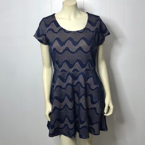Paper Doll Navy and Taupe Dress XL